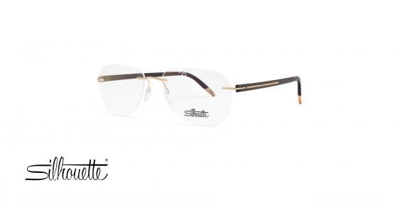 عینک طبی گریف سیلهوئت - مشکی طلایی - حدقه خلبانی - عکاسی وحدت - زاویه سه رخ