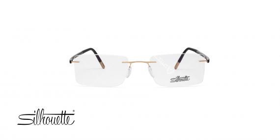 عینک طبی سیلوت - گریف دسته مشکی طلایی - عکاسی وحدت - زاویه روبرو