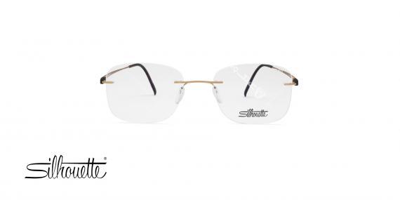 عینک گریف سیلوت - دسته طلایی مشکی - مربعی شکل - عکاسی وحدت - زاویه روبرو