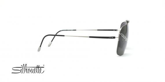 عینک آفتابی مستطیلی سیلوت مشکی با بدنه نقره ای - عکاسی توسط عینک وحدت - زاویه ی کنار