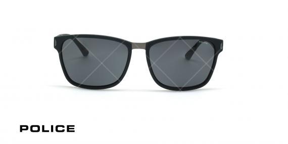 عینک آفتابی پلیس - POLICE SPL350 -فریم مشکی- عکاسی وحدت - زاویه روبرو