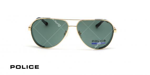 عینک آفتابی پلیس - POLICE SPL678G -فریم مشکی- عکاسی وحدت - زاویه روبرو