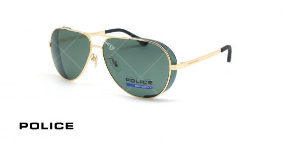 عینک آفتابی پلیس - POLICE SPL678G -فریم مشکی- عکاسی وحدت - زاویه سه رخ