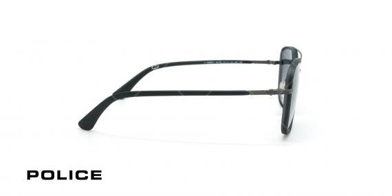 عینک آفتابی پلیس - POLICE SPL871 -فریم مشکی- عکاسی وحدت - زاویه بقل