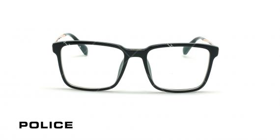 عینک طبی لویس همیلتون پلیس - POLICE SPLA30 lEWIS09 - مشکی طلایی - عکاسی وحدت - زاویه روبرو