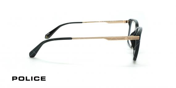 عینک طبی لویس همیلتون پلیس - POLICE SPLA30 lEWIS09 - مشکی طلایی - عکاسی وحدت - زاویه کنار