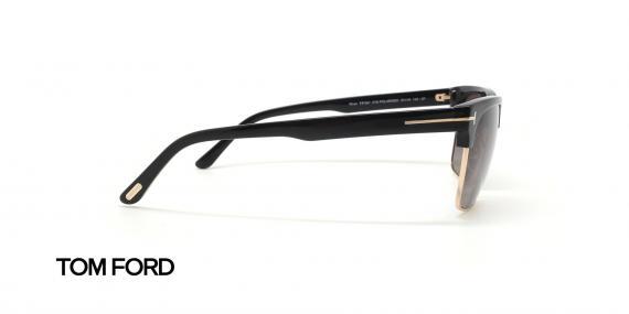 عینک آفتابی کلاب مستر دسته مشکی زیر طلایی تام فورد - زاویه کنار