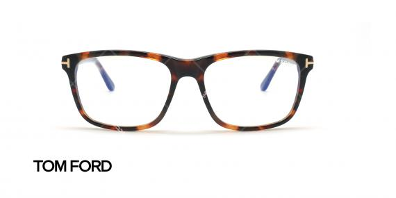 عینک طبی مستطیلی تام فورد - TOM FORD TF5479-B - قهوه ای هاوانا - عکاسی وحدت زاویه روبرو
