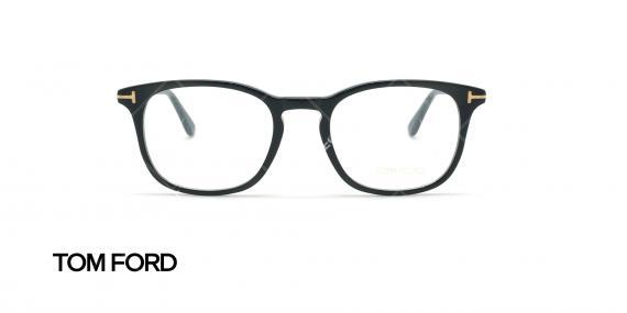 عینک طبی مربعی تام فورد - TOM FORD TF5505 - مشکی - عکاسی وحدت - زاویه روبرو