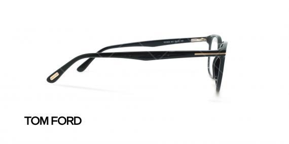 عینک طبی مربعی تام فورد - TOM FORD TF5505 - مشکی - عکاسی وحدت - زاویه کنار