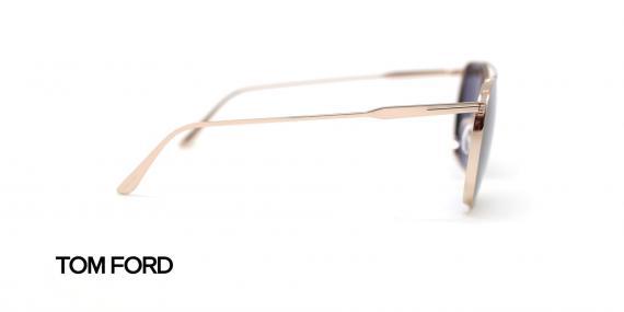 عینک آفتابی فلزی طلایی پلاستیک سبز - زاویه کنار