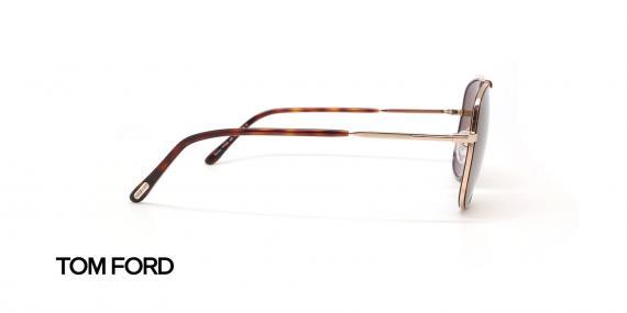 عینک آفتابی فلزی طلایی تام فورد - عکاسی عینک وحدت - زاویه کنار