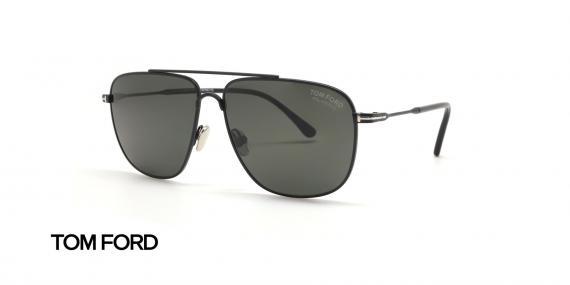 عینک آفتابی فلزی مشکی رنگ تام فورد - زاویه سه رخ