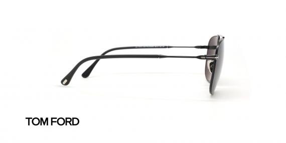 عینک آفتابی فلزی مشکی رنگ تام فورد - زاویه کنار