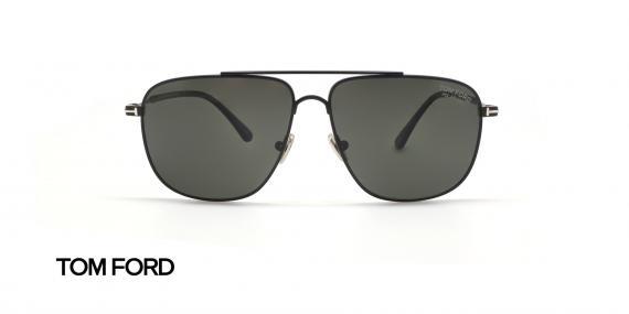 عینک آفتابی فلزی مشکی رنگ تام فورد - زاویه روبرو