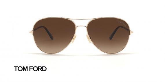 عینک آفتابی خلبانی تام فورد - عکاسی عینک وحدت - زاویه روبرو