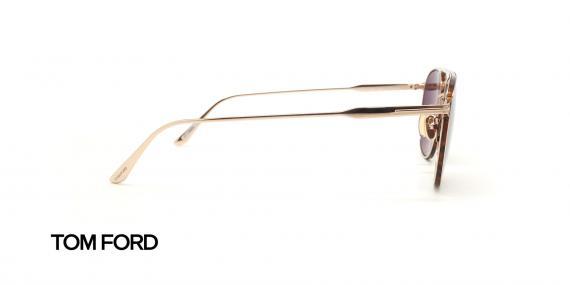 عینک آفتابی تام فورد فلزی طلایی عدسی قهوه ای رنگ - زاویه کنار