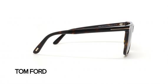 عینک آفتابی کائوچویی قهوه ای هاوانا پولاریزه تام فورد - عکاسی عینک وحدت - زاویه کنار