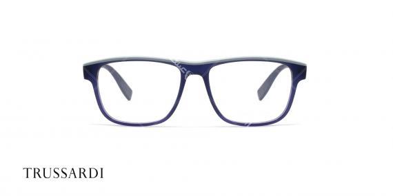 عینک طبی تروساردی فریم آبی کائوچویی VTR025 - عکاسی وحدت- زاویه رو به رو
