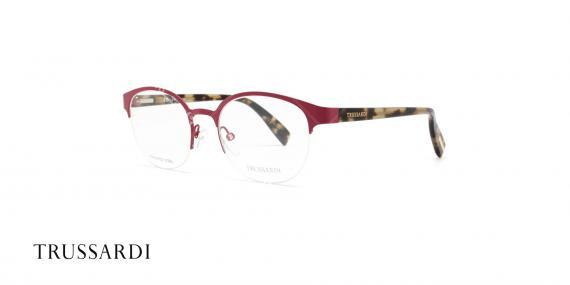 عینک طبی تروساردی فریم قرمز هاوانا VTR028 - عکاسی وحدت- زاویه سه رخ
