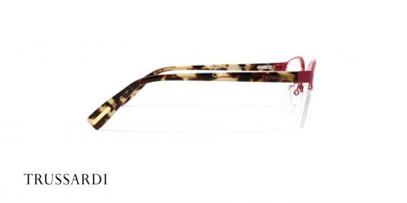 عینک طبی تروساردی فریم قرمز هاوانا VTR028 - عکاسی وحدت- زاویه کنار