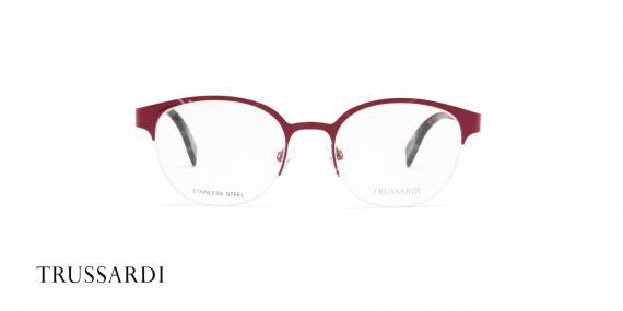 عینک طبی تروساردی فریم قرمز هاوانا VTR028 - عکاسی وحدت- زاویه رو به رو