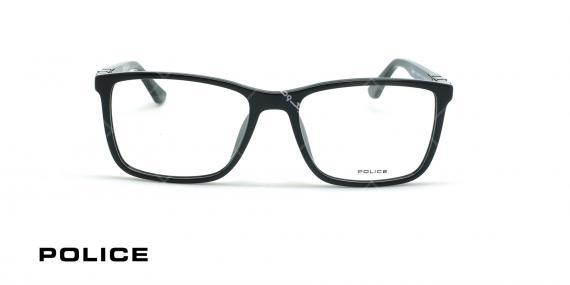 عینک طبی مستطیلی  پلیس - POLICE VPL886 - عکاسی وحدت - عکس زاویه روبرو