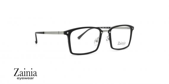 عینک طبی مستطیلی شکل زینیا  Zainia Z1146 C204 - عکاسی وحدت - زاویه سه رخ